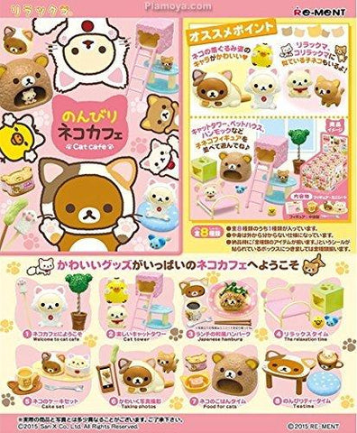 Re-Ment Rilakkuma - Rilakkuma Laid Back Cat Cafe (Set of 8) - Simply Toys