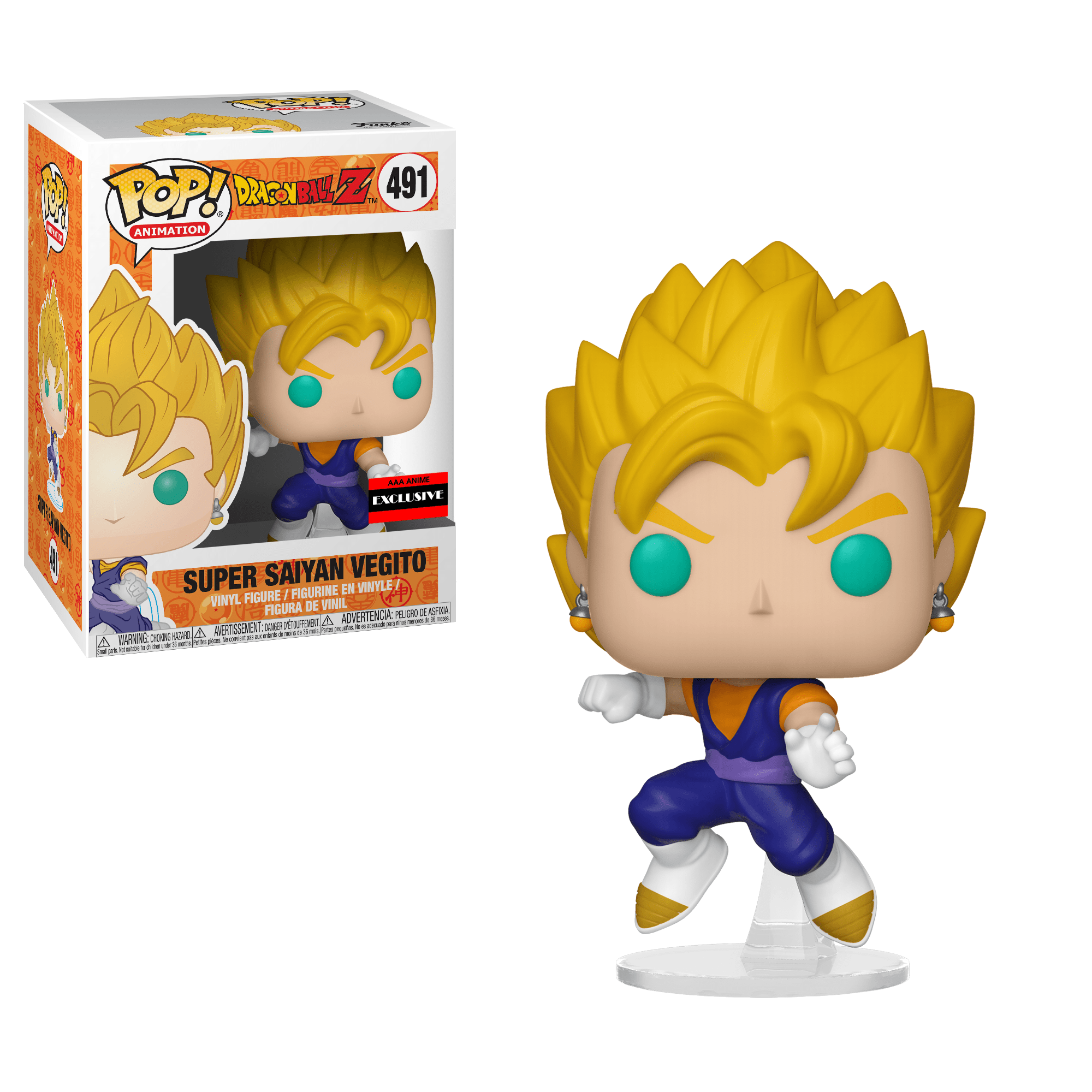 Funko Pop! Animation - Dragonball Z #491 - Super Saiyan Vegito (Exclusive) - Simply Toys