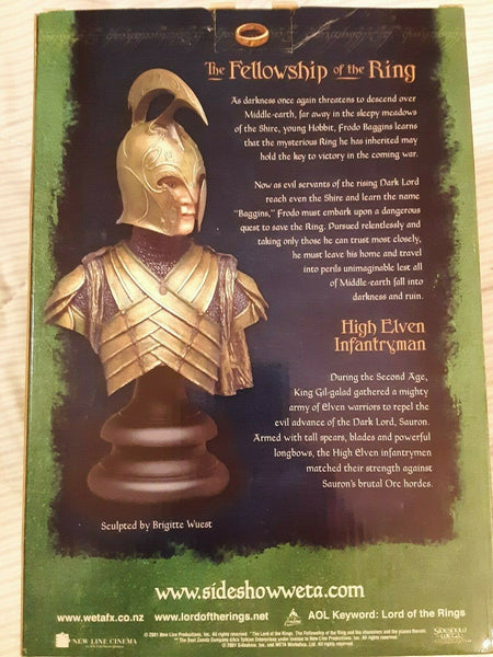 Sideshow Weta Collectibles - The Lord of the Rings: The Fellowship of the Ring - High Elven Infantryman (1/4 Scale Polystone Bust) - Simply Toys