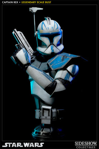 Sideshow Collectibles Star Wars Legendary Scale Bust  - Captain Rex - Simply Toys