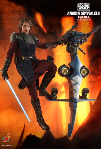 [PRE-ORDER] Hot Toys - Star Wars 1/6th Scale Set - TMS020 Star Wars: The Clone Wars™ Anakin Skywalker and STAP