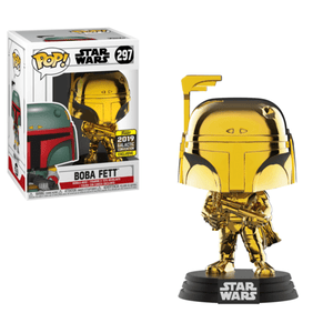 Funko Pop! Movies - Star Wars #297 - Boba Fett (Gold Chrome) (Galactic Convention 2019 Exclusive) - Simply Toys