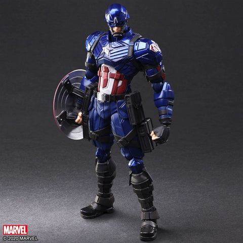 [PRE-ORDER] Square Enix - MARVEL Universe Variant Bring Arts Figure - Captain America [Designed by Tetsuya Nomura]