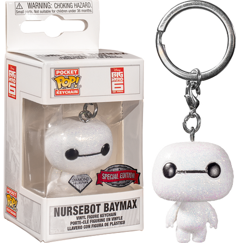Funko Pop! Keychain - Big Hero 6 - Baymax (Glitter) (Exclusive)