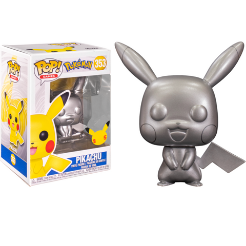 Funko Pop! Games - Pokemon 353 - Pikachu (Silver Metallic)