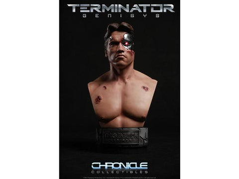 Chronicle Collectibles Terminator Genisys 1/2 Scale Bust - T-800 (Battle Damaged) (Limited Edition 300 pieces) - Simply Toys