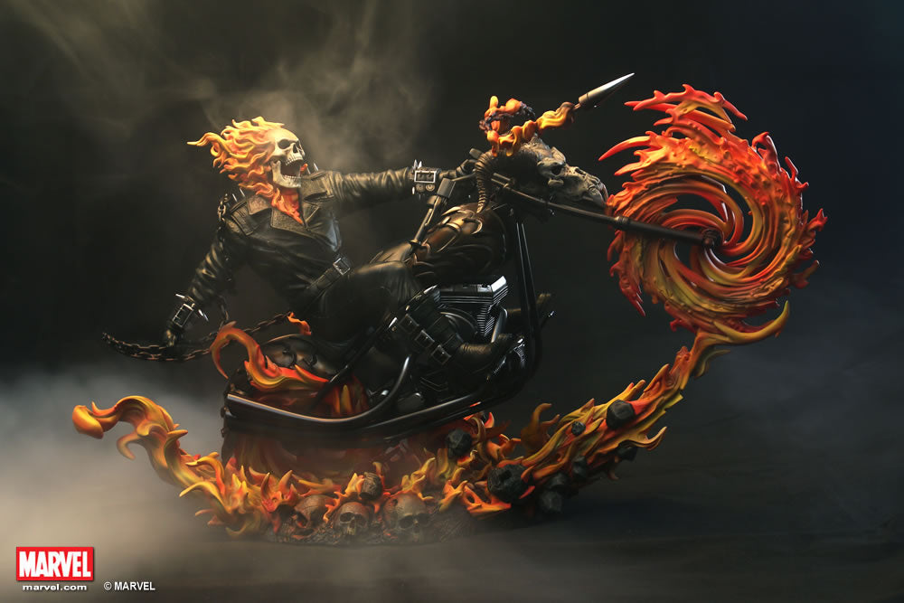 XM Studios 1/4 Scale MARVEL Premium Collectibles Statue - Ghost Rider (Limited 999 Pieces) - Simply Toys