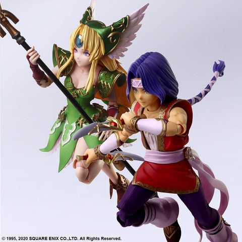 [PRE-ORDER] Square Enix - Trials of Mana Bring Arts Figures - Hawkeye & Riesz