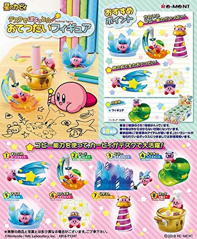 Re-Ment Kirby - Kirby Desk Figure (Set of 8) - Simply Toys