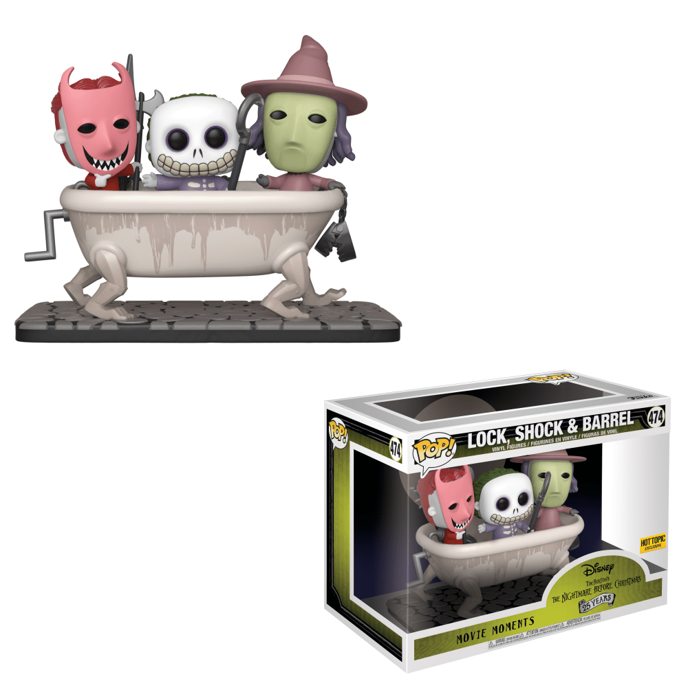 Funko Pop! Movie Moments - The Nightmare Before Christmas #474 - Lock, Shock & Barrel - Simply Toys