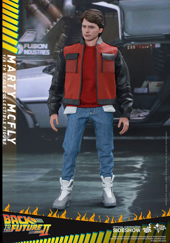 Hot Toys Movie Masterpiece Series Back To The Future 2 1/6th Scale Collectible Figure - Marty Mcfly - Simply Toys
