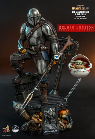 [PRE-ORDER] Hot Toys - QS017 The Mandalorian 1/4th Scale Collectible Set - The Mandalorian & The Child (Deluxe Version)