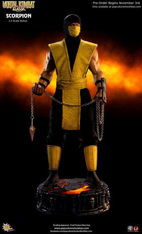 Pop Culture Shock Mortal Kombat 1/3 Scale Statue - Scorpion - Simply Toys