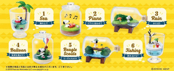 Re-Ment Peanuts - Peanuts Snoopy & Woodstock Everyday Terrarium (Set of 6) - Simply Toys