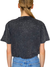 Load image into Gallery viewer, PINK AS FUCK BLACK ACID WASH T-SHIRT