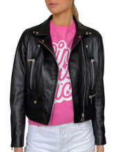 Load image into Gallery viewer, PINK AS FUCK STUDDED LEATHER JACKET