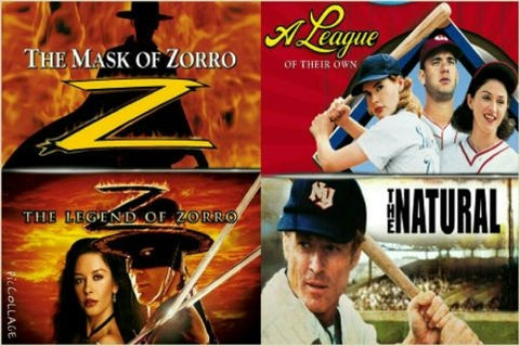 A League Of Their Own/The Natural/The Mask Of Zorro/The Legend Of Zorro (UV HD)