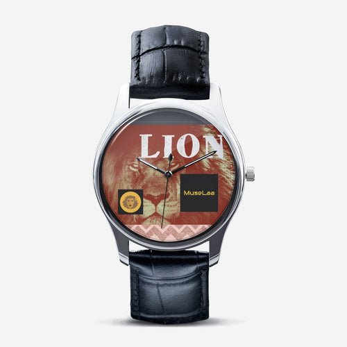 MuseLaa lClassic Fashion Print Black Quartz Watch