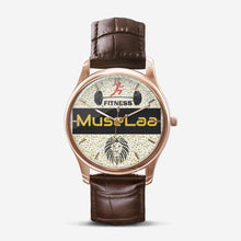 Load image into Gallery viewer, MuseLaa Fitness Classic Fashion Print Black Quartz Watch