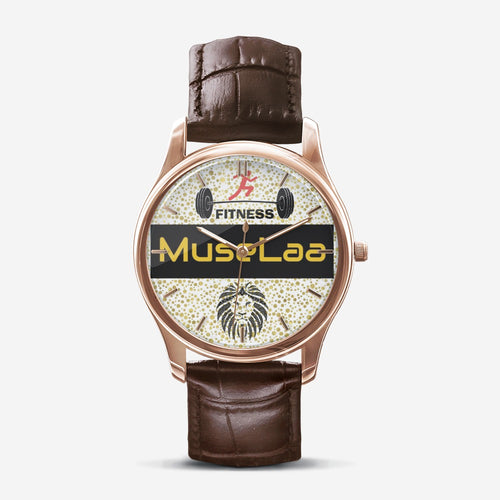 MuseLaa Fitness Classic Fashion Print Black Quartz Watch