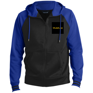 MuseLaa Men's Sport-Wick® Full-Zip Hooded Jacket