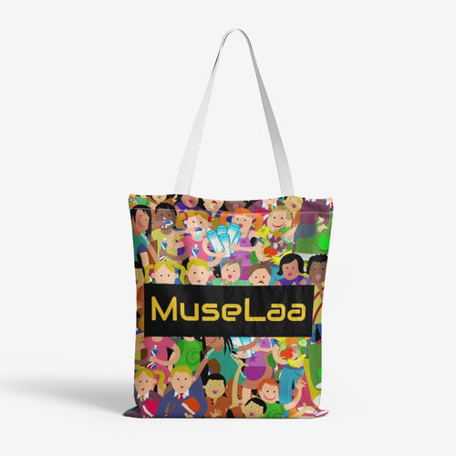 MuseLaa Heavy Duty and Strong Natural Canvas Tote Bags