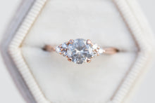 Load image into Gallery viewer, Misty grey diamond cluster ring