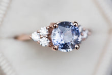Load image into Gallery viewer, 1.8ct Pastel sapphire cluster engagement ring, diamond ring