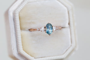 Oval petite Montana sapphire five stone ring