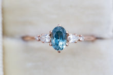 Load image into Gallery viewer, Oval petite Montana sapphire five stone ring