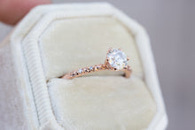 Load image into Gallery viewer, Ethereal solitaire moissanite engagement ring
