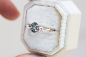 Oval pastel sapphire engagement ring, pick your stone