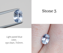 Load image into Gallery viewer, Oval pastel sapphire engagement ring, pick your stone