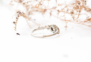 Morganite and moissanite 14k gold barnacle engagement ring, barnacle ocean twig ring, ocean ring, morganite twig, morganite engagement ring