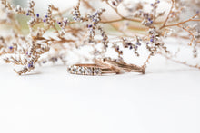 Load image into Gallery viewer, 14k gold twig wedding band, 14k gold matching twig nature band