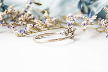 Load image into Gallery viewer, Moissanite marquise twig engagement ring, alexandrite engagement ring, 14k gold ring, twig ring, marquise, alternative engagement ring
