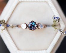 Load image into Gallery viewer, Alexandrite moonstone twig engagement ring