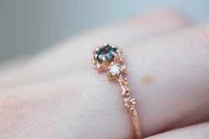 Montana sapphire three stone ring, nature engagement ring, barnacle ring, ocean ring, sapphire engagement ring, engagement, twig ring