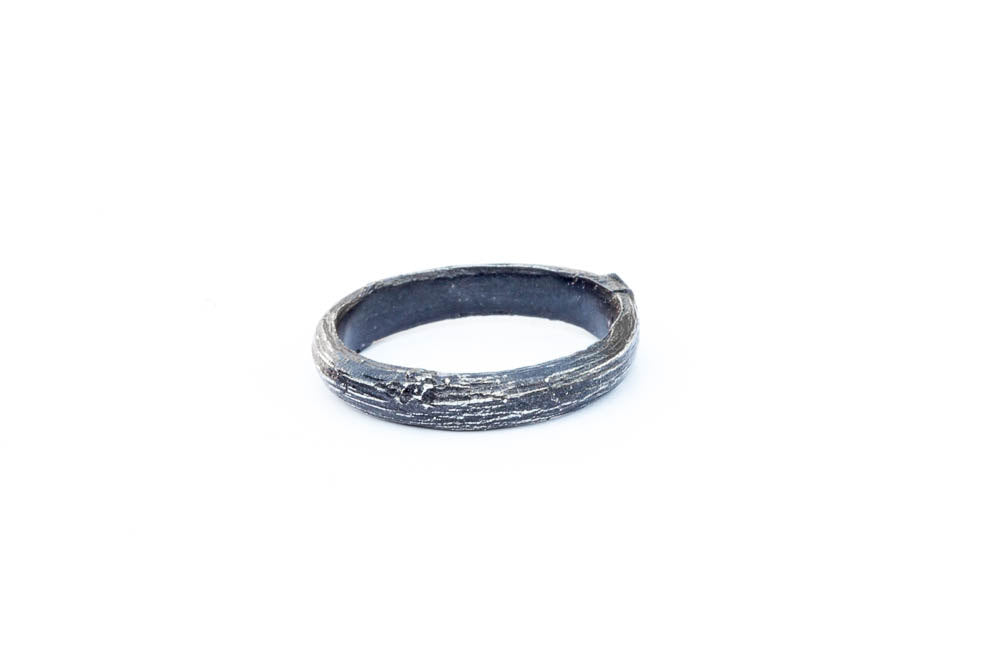 Sterling silver twig men's ring, twig wedding band, men's wedding band nature