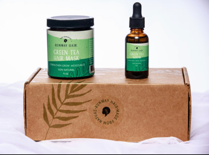 Grow Green Duo Set (Green Tea Mask & Serum Set)