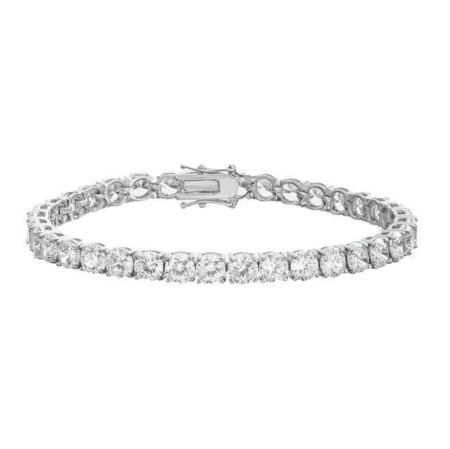 18K FOREIGN TENNIS BRACELET (White Gold) - Foreign Jewels