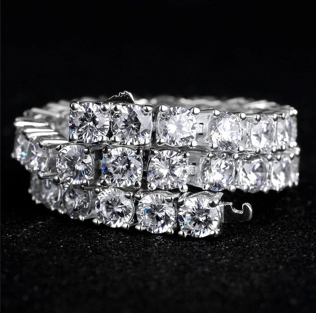FOREIGN TENNIS BRACELET (SILVER) - Foreign Jewels