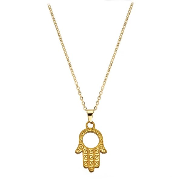 Hamsa Gold Pendant - Foreign Jewels