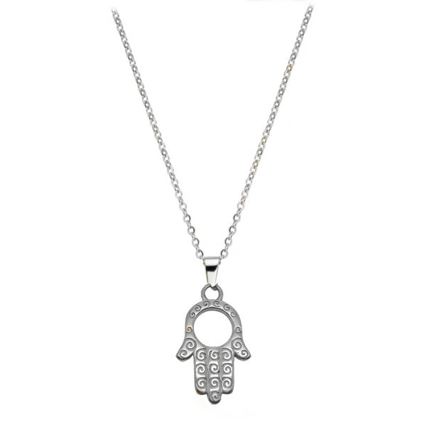 Hamsa Silver Pendant - Foreign Jewels