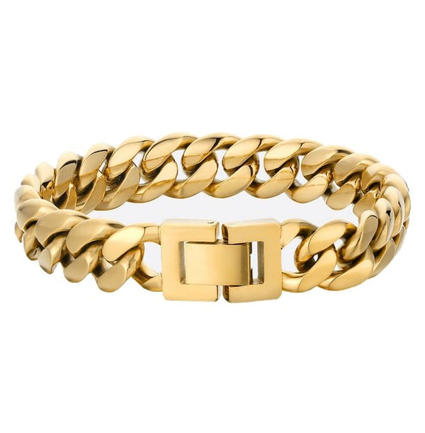 Miami Latch 18K Gold Bracelet - Foreign Jewels