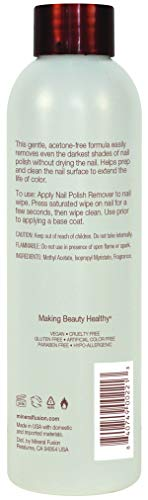 Mineral Fusion Nail Polish Remover, 6 Ounce (Packaging May Vary)