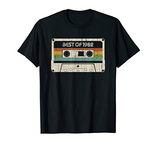 Vintage Best of 1982 37th Birthday Cassette T-Shirt