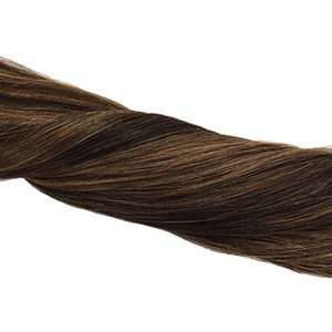 GOO GOO Remy Hair Extensions Tape in Human Hair Ombre Dark Brown Highlighted Light Brown Real Natural Hair Extensions Tape in Hair 20pcs 50g 14inch