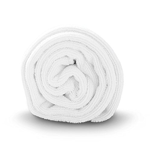 Luxe Beauty Essentials Microfiber Hair Towel For Drying Curly, Long & Thick Hair (24 x 42, White)