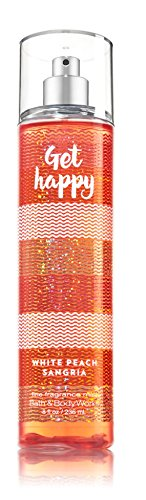 Bath & Body Works ~ Signature Collection ~ Get Happy - White Peach Sangria ~ Shower Gel ~ Fine Fragrance Mist & Body Lotion ~ Trio Gift Set